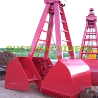 5cbm Red Color Mechanical BV Crane Grab Bucket Manufactures