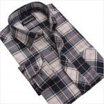 cvc80/20  print flannel men's  new design business shirts Manufactures