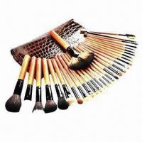 China Makeup brush tools, includes 24-piece makeup brushes packing cosmetic pouch on sale
