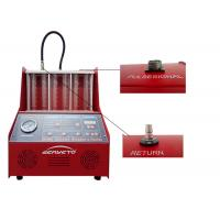 Quality Gasoline Fuel Injector Tester And Cleaner / Car Injector Cleaning Machine for sale