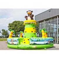 China Monkey Theme Inflatable Sports Games , Inflatable Bouncy Castle For Children Amusement on sale