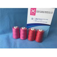 China 100% Polyester Staple Fiber Sewing​ TFO Yarn , Dyed Ring Polyester Core Spun Thread on sale