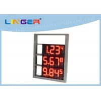 Multi Functional Digital Gas Price Signs High Brightness OEM / ODM Available Manufactures