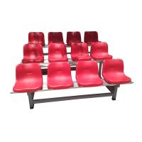 China Whosale Neptune injection HDPE plastic fixed chairs Gym arena audience seats on sale