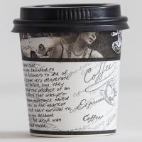 Black Color Disposable Coffee Lids Eco - Friendly For Engagement / Wedding Manufactures