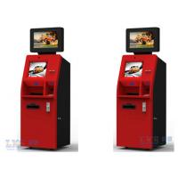 Customer Service Banking ATM Kiosk , Money Automatic Teller Machine Red Color Manufactures