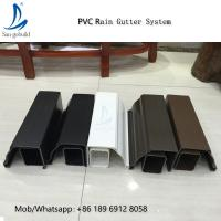 High Quality Rain Drainage System Building Material Plastic PVC Rain Gutter System Downspout Fittings Rainwater Gutters Manufactures