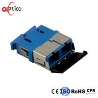 China SC UPC Fiber Optic Adapters Blue Single Duplex With Shutter Data Processing Networks on sale
