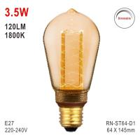 ST64 Bulb, LED Deco Light, E27 Bulb, Fashionable Glass Bulb, LED Candle Manufactures