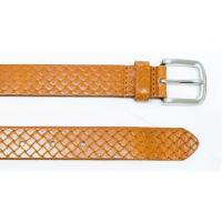 Brown 100 Genuine Cow Leather Belt Nickel Prong Buckle Leather Belt Manufactures