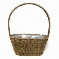China Flower Basket, Made of Sea Grass, Used for Christmas Decoration and Gift Packaging on sale
