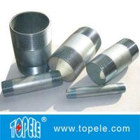 Buy cheap Customized Precise Thread Emt Connector Electro Galvanized Rigid Conduit Nipple from wholesalers