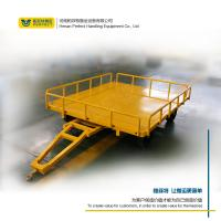 Quality custom 1-200 ton heavy duty industrial trailer towed by forklift freeturningtrackless transfer trailer for sale