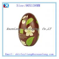 China Egg shape christmas gift tin box on sale