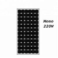Quality Promotional cheap price and high quality monocrystalline 220w solar panel for sale