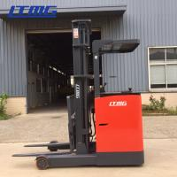 China 2000kg Electric Reach Stacker Forklift , Double Reach Forklift Trucks Seated on sale