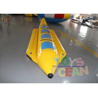 4 Players Yellow Inflatable Banana Boat Inflatable Water Ski Tubes For Water Game