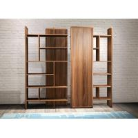 2017 New walnut wood Bespoke Furniture Storage Cabinet Display Shelves with Glass door Manufactures