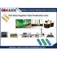 China Flat Type Drip Irrigation Tape Production Line 250m/Min With Flat Emitter on sale
