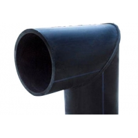 Quality Oil And Natural Gas Butt Weld 90 ° Elbow HDPE Pipe Fittings for sale