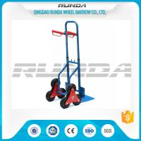 Telescopic Heavy Duty Hand Trolley Double Wheels Powder Coating Steel Tube 200kg Manufactures