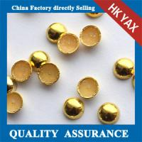 Round iron on metal studs;iron on copper stud;wholesale shop iorn on convex stud Manufactures