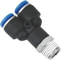 Y Shape Metric Pneumatic Hose Fittings One Touch With BSPT Threads