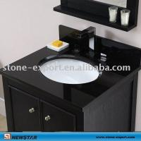 China Pure black Marble Vanity Top,Golden granite vanity tops ,Bathroom travertine vanity  ,granite bathroom vanity tops on sale