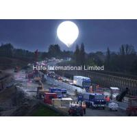 220V / 230V 3.8M 12.5ft Moon Led Light Party Balloons With HMI Lamp Illuminate Manufactures