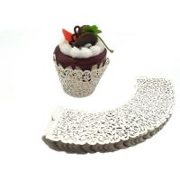 White Cardboard Mini Cupcake Wrappers Laser Cut Stamping Surface Treatment Manufactures