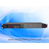 32 Port PCM Telephone To Fiber Optic Converter with 2Port 100M ethernet in 1U rack mount chassis Manufactures