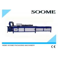 PLC Control Corrugated Box Strapping Machine Simple Operation Automatic Packing For Carton Manufactures