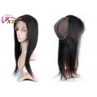 Hand Made Cap Frontal Virgin Raw Indian Straight Hair Brown Color Frontal 360 Manufactures