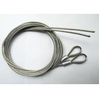 Stainless 316 Steel Wire Rope Assembly , Steel Wire Rope Fittings  2.0 mm With Thimble Eyelet Loops Manufactures