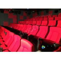 Red 3D Movie Cinema / Movie Theatre Seats With Vibration System CE Approval Manufactures