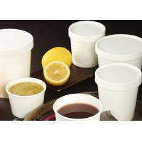 China Disposable kraft white paper bowl for salad and hot soup and rice bowl ice cream paper on sale