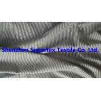 147CM Yarn Dyed Cotton Twill Fabric Black / White Stripes Peach For Men'S Garment Blouses Manufactures