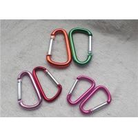 Small Personalized Promotional Gifts Carabiner Multiple Colors D - Shaped Mountaineering Buckle Metal Key Holder Manufactures