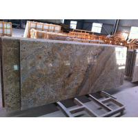 Brazilian Golden Vein Granite Island Top Flat Surfacce With Polished Edges Manufactures