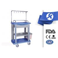 China 750*475*920mm Medical Equipment Trolley ABS IV Treatment Two Dustbin on sale