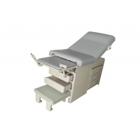 China Easy Operation Manual Gynecology Examination Table With Drawers Step Stool on sale