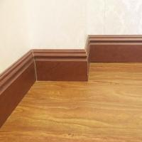 100mm Hualun Guanse New Decor Material WPC Vinyl Flooring Skirting board,Baseboard molding manufacture Manufactures