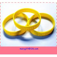 wholesale price silicone bracelet with debossed logo Manufactures