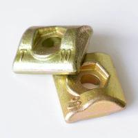 China HST Elevator Guide Rail Parts T90 Type Clip Golden Color Iron Material on sale