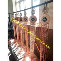 Non-Sparking Lifting Chain Hoist Block With Trolleys 2 Ton By Copper Beryllium Manufactures