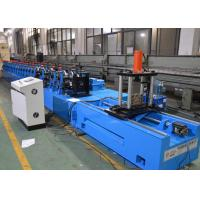 China Upright Rack Roll Forming Machine With Hole Punching Yield Strength 250 - 550mpa on sale