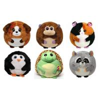 25cm Round Shape Animal Promotional Gifts Toys Green / Brown / Grey Color Manufactures