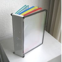 10 Pages Flip Wall Mount A4 Poster Display Stand Manufactures