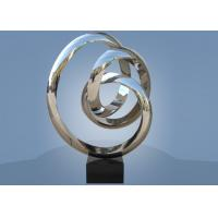 China Large Size Stainless Steel Sculpture Circle Around For Hotel / Public Decoration for sale