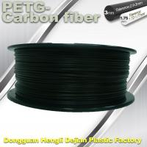Quality 3D Printer Filament 1.75mm PETG - Carbon Fiber Black Filament High Strength Filament for sale